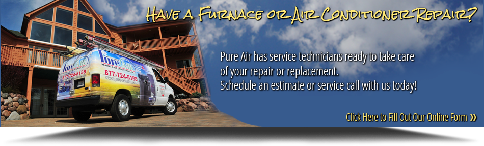 Pure Air's vans are ready to service your furnace in Spring Grove, IL