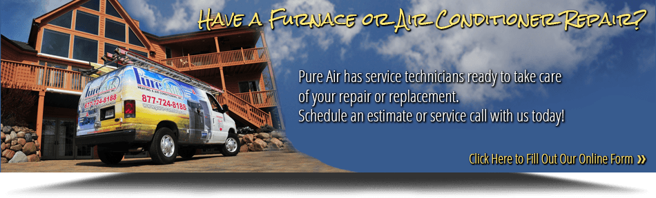 Pure Air's vans are ready to service your air conditioner in Spring Grove IL